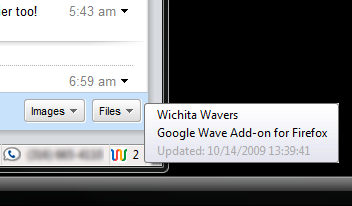 Google Wave Add-on for Firefox at That Smith