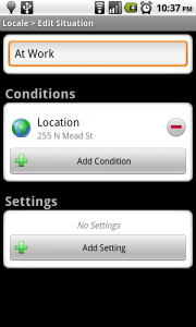 Adding the location Condition
